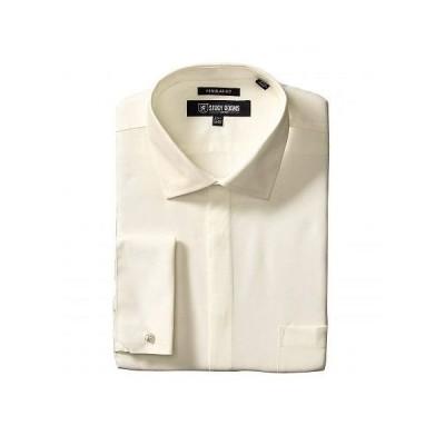 Stacy Adams ステーシーアダムス メンズ 男性用 ファッション ボタンシャツ 39000 Solid Dress Shirt - Ecru