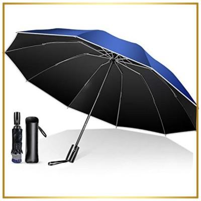 【強化版 10本骨 濡れない逆折り式】 折りたたみ傘 ワンタッチ自動開閉 超撥水 折り畳み傘 メンズ レディース