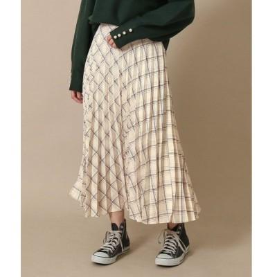 スカート チェックプリーツスカート