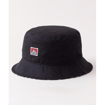 LB/S / 【BEN DAVIS/ベンデイビス 】コンビバケットハット ツバ裏チェック柄/カモフラ柄 ワンポイントブランドロゴ MEN 帽子 > ハット