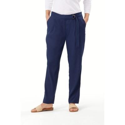 トッミーバハマ レディース カジュアルパンツ ボトムス Willa Linen Stretch Pants ISLAND NAV