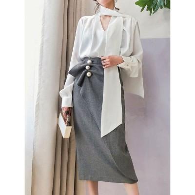 レディース ロングスカート マキシスカート 春新作 スカート 韓国 ファッション レディース ウエストボタン ハイウエスト jm4314
