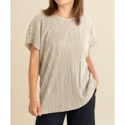 tシャツ Tシャツ マイクロプリーツゆるTシャツ