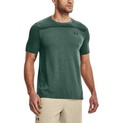 アンダーアーマー メンズ シャツ トップス Under Armour Men's Seamless T-Shirt Toddy Green/Black