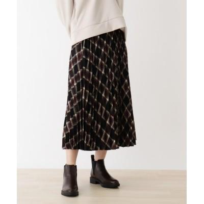 SHOO・LA・RUE/DRESKIP(シューラルー/ドレスキップ) 【M-L】ウ-ル調プリ-ツスカート