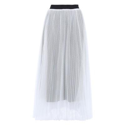 MAJE ロングスカート ホワイト 2 ポリエステル 100% ロングスカート
