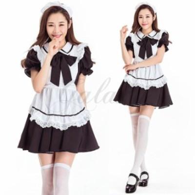 ハロウィン メイド服 可愛い メイド ふわふわ ワンピース カフェ 喫茶店 コスプレ衣装 ps3620