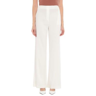 CLIPS MORE パンツ ホワイト 40 レーヨン 97% / ポリウレタン 3% パンツ