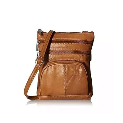 Crossbody Bags for Women - RFID Blocking - Soft Leather (Brown)【並行輸入品】