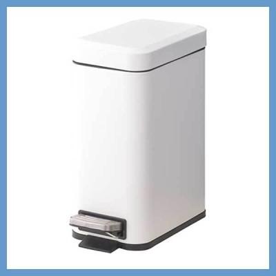 『小型』ぺダル式トラッシュカン(5L)/ホワイト(LFS-232WH)