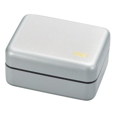 弁当箱 2段 おしゃれ  ( ワイドランチ Border メタシルバー )  家庭用 電子レンジ対応 家庭用 食洗機対応 大容量のメンズ仕様 日本製