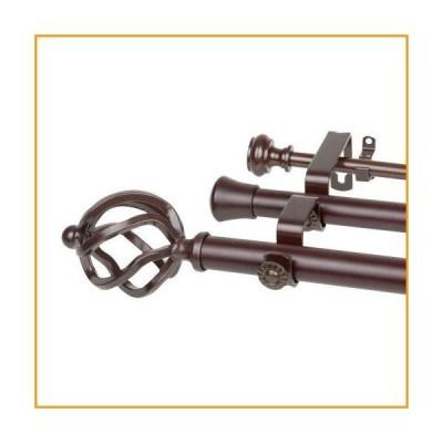 [新品]Rod Desyne Twist Cocoa 48-84 Inches Triple Curtain Rod[並行輸入品]