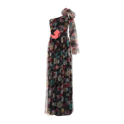 ELISABETTA FRANCHI ロングワンピース&ドレス ブラック 46 ナイロン 100% ロングワンピース&ドレス