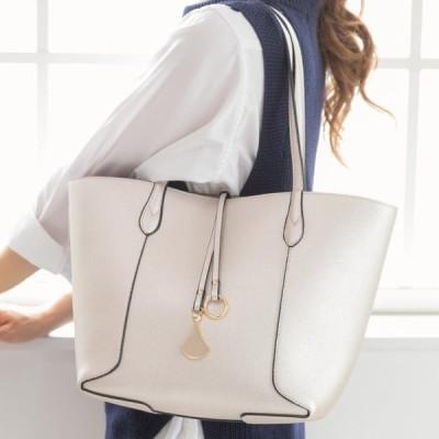 トートバッグ リバーシブルトートバッグ no.99361 ポーチ付 パールホワイト 合成皮革 鞄 かばん レディースバッグ カジュアルバッグ Bag ビジネスバッグ