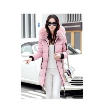 ダウンコート 中綿コート コート ダウンジャケット レディース ロングコート 大きいサイズ フード付き 可愛い 秋冬 アウター 厚手 通勤 カジュアル おしゃれ