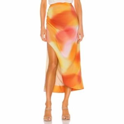 カメオ C/MEO レディース ひざ丈スカート スカート Blindfold Skirt Vermillion Ombre