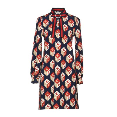 グッチ GUCCI ミニワンピース&ドレス ダークブルー M レーヨン 93% / ポリウレタン 7% / コットン ミニワンピース&ドレス