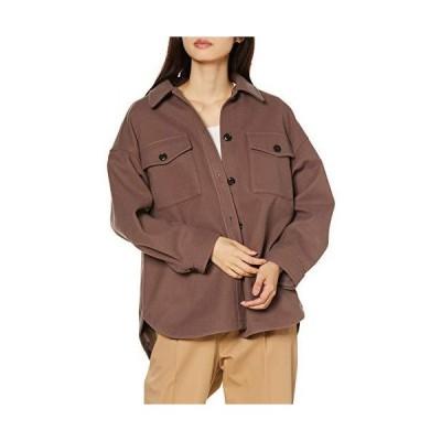 [セシール] ジャケット CPOデザイン ゆったり ドロップショルダー 裏地付き 大きめポケット レディース モカ WM R