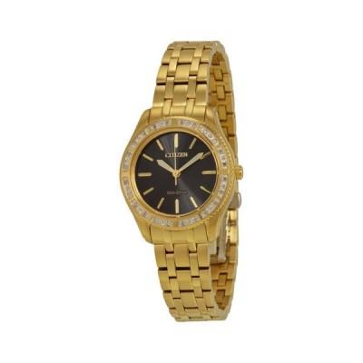 腕時計 ウォッチ シチズン Citizen Carina ブラック ダイヤル レディース 腕時計 EM0242-51E