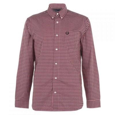 フレッドペリー Fred Perry メンズ シャツ トップス Gingham Shirt Pink G