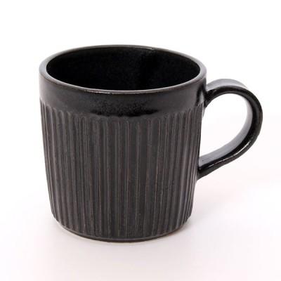 LOLO 伸光窯 しのぎマグカップ 黒 SA00(ブラック)