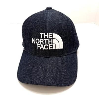 ノースフェイス THE NORTH FACE キャップ レディース - ダークネイビー×白 コットン【中古】20210326