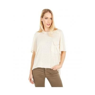 Free People フリーピープル レディース 女性用 ファッション Tシャツ Kyoto Tee - Cream Combo