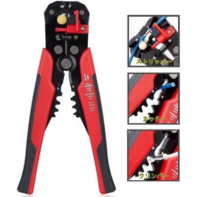 送料390円 ワイヤー ストリッパー オートマルチ 配線 ツール 電線 コード 皮剥ぎ 自動 カッター 多機能プライヤー