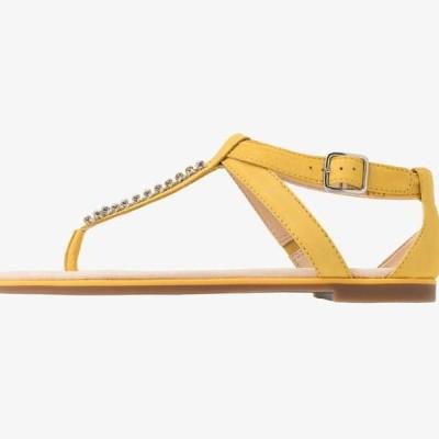 クラークス レディース 靴 シューズ BAY POPPY - T-bar sandals - yellow