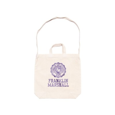 ONE DAY KMC / 【FRANKLIN & MARSHALL/フランクリンマーシャル】Cotton canvas 2WAY Embrem Print Tote Shoulder MEN バッグ > ショルダーバッグ