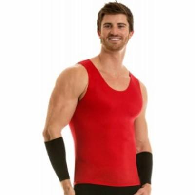 pro プロ ファッション トップス Insta Slim Pro Active Wear Muscle Tank Compression Slimming Under Shirt - Red