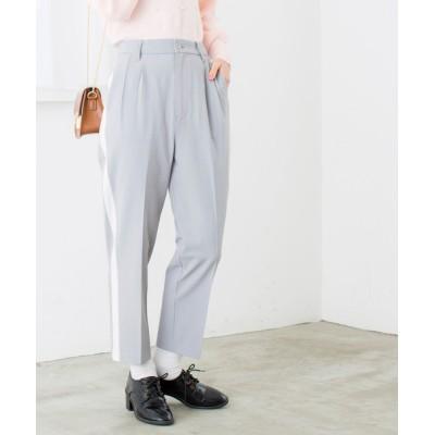 WEGO / WEGO/タックサイドラインテーパードパンツ WOMEN パンツ > スラックス