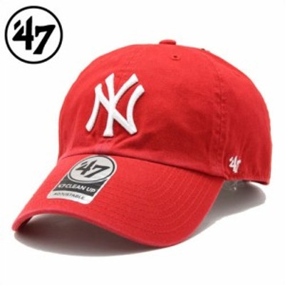 47 Brand フォーティーセブンブランドCLEAN UPキャップ YANKEES 47 CLEAN UP RED
