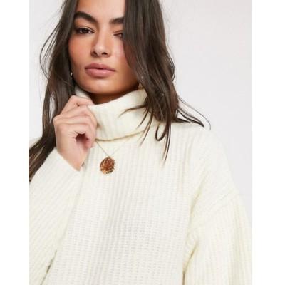 エイソス レディース ニット・セーター アウター ASOS DESIGN fluffy sweater with cowl neck