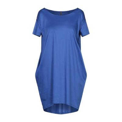 マニラ グレース MANILA GRACE ミニワンピース&ドレス ブライトブルー 0 コットン 100% ミニワンピース&ドレス
