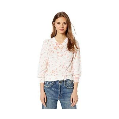 Rebecca Taylor Women's Printed V-Neck Pullover, Snow Combo, M並行輸入品 送料無料