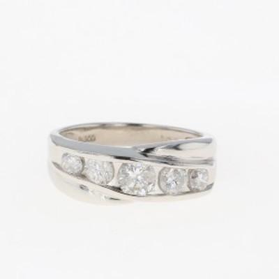 メレダイヤ デザインリング プラチナ 指輪 リング 11号 Pt900 ダイヤモンド レディース 中古