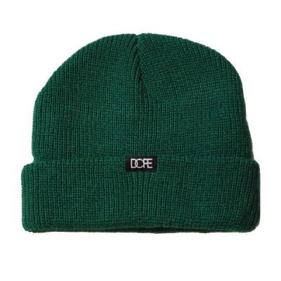 ドープ DOPE CORE CUFF BEANIE DARK GREEN/ダークグリーン ショート ビーニー ニット帽 帽子