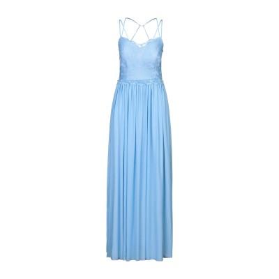 SOANI ロングワンピース&ドレス スカイブルー 44 ポリエステル 100% ロングワンピース&ドレス