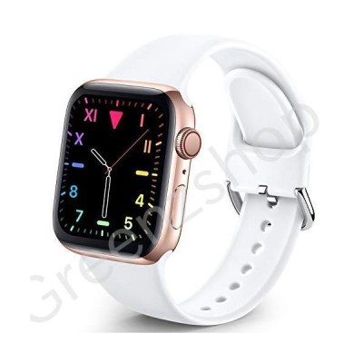 Sport Band Compatible with Apple Watch iWatch Bands 38mm 40mm for Women Men,Soft Silicone Strap Wristbands for Apple Watch Series 3 Series 6