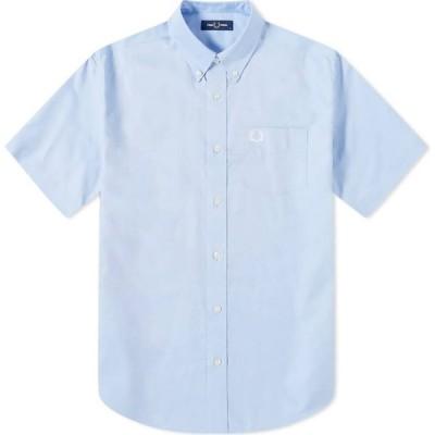 フレッドペリー Fred Perry Authentic メンズ 半袖シャツ トップス short sleeve oxford shirt Light Smoke
