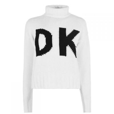 ダナ キャラン ニューヨーク DKNY レディース ニット・セーター トップス Wrap Logo Jumper White