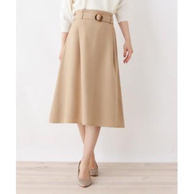 SOUP / 【大きいサイズあり・17号・19号】innowave リネン風フレアスカート WOMEN スカート > スカート