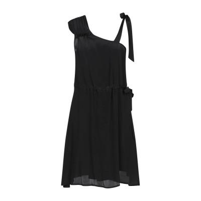 ロートレ ショーズ L' AUTRE CHOSE ミニワンピース&ドレス ブラック 40 アセテート 76% / シルク 19% / ナイロン 5%