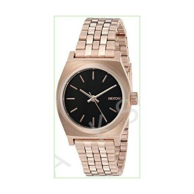 Nixon Women's Small Time Teller Japanese-Quartz Watch with Stainless-Steel Strap, Black, 14 (Model: A3992598)【並行輸入品】