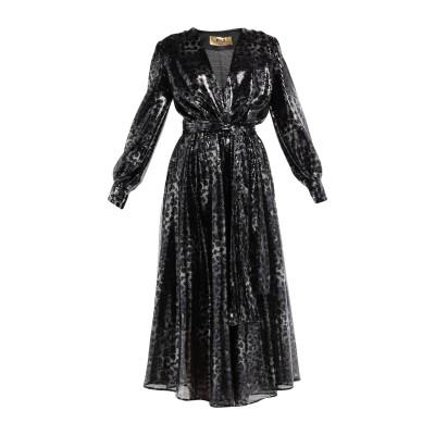 エムエスジーエム MSGM 7分丈ワンピース・ドレス ブラック 40 ポリエステル 100% 7分丈ワンピース・ドレス