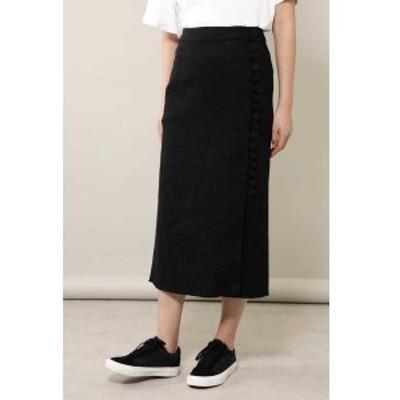 ローズバッド(ROSE BUD)/くるみボタンロングスカート