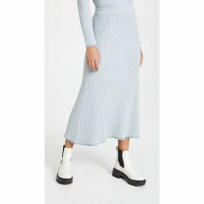 セオリー Theory レディース ひざ丈スカート スカート Mouline Rib Skirt Eggshell Blue Mouline