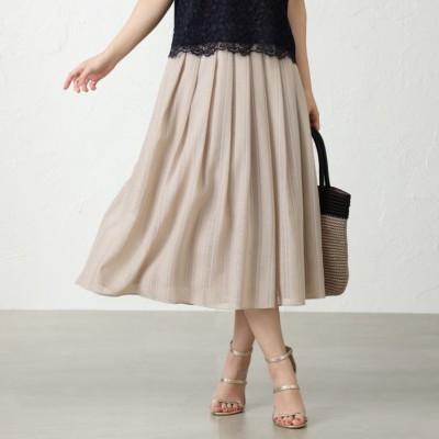 カラミ織りストライプスカート