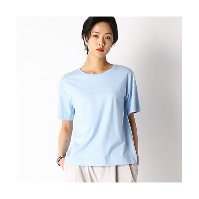 <COMME CA TALL(Women/大きいサイズ)/コムサ トール> メッセージプリント Tシャツ(3460ET04) 23【三越伊勢丹/公式】
